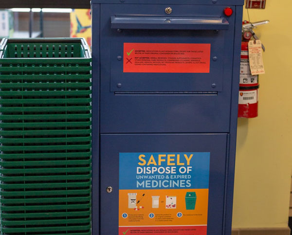 Dispose of your unused medications at Ostroms.
