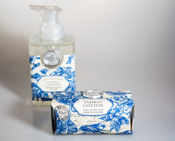 Indulge with many fragrances of Michel Design works soaps and lotions.